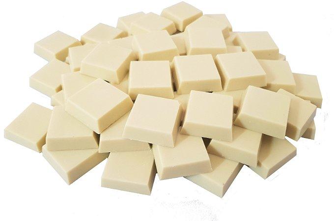Tabletes de Chocolate Gourmet Branco Ao Leite de Coco Sem Lactose/Vegano/Zero Açucar - Emb. 1kg
