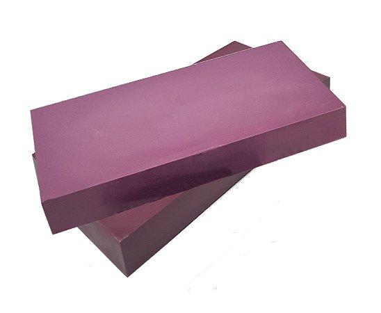 Barra Chocolate Branco com Hibiscus - Sem Leite/Sem Glúten/ Com Maltitol- 1kg