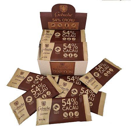 Display Tabletes Chocolate 54% Cacau - Sem Leite/Sem Glúten - 528g