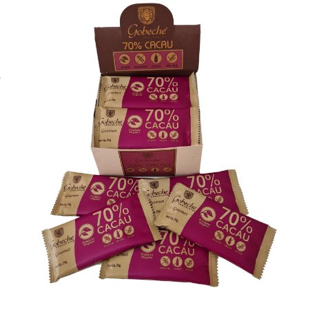 Display Tabletes Chocolate 70% Cacau - Sem Leite/Sem Glúten - 528g