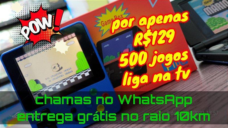 Mini Game Portatil K5 Retrô com 500 Jogos - LCT-028