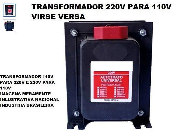 TRASNFORMADOR 220V PARA 110V E 110V PARA 220V