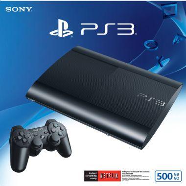 PLAYSTATION 3 MODELO SUPER SLIM COM 1 CONTROLE 500GB ( SEMI-NOVO) COM 1 JOGOS DE BRINDE