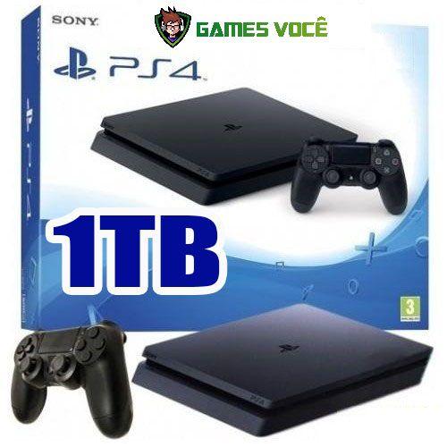 Playstation 4 SLIM - 1TB - Novo Modelo SLIM - HD 1TB