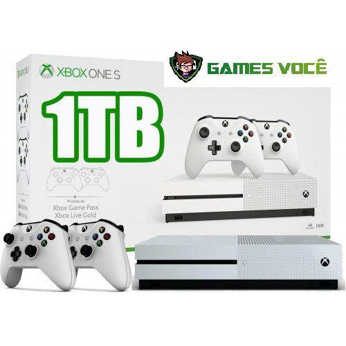 0061a5fd8 Xbox one de 1tb com 2 controles - Nova Games Você Compra Venda Troca ...