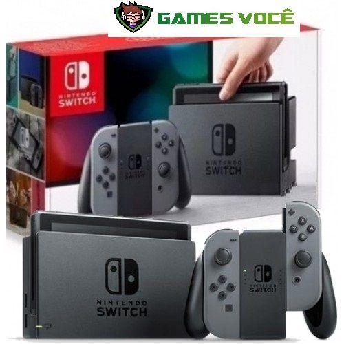 Nintendo SWITCH 32GB SEM JOGO COR CINZA 1 ano de garantia