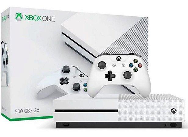 Xbox One S - 500gb - sm de R$1499 Cor Branca ganha 1 jogo seminovo brinde (disponível em loja física).