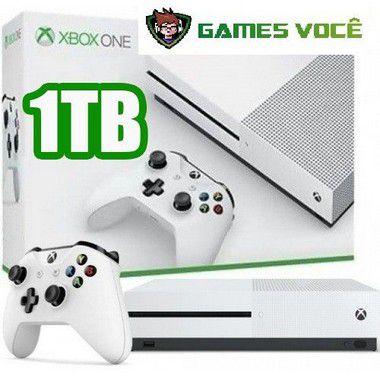 Xbox One S - 1TB -por apenas R$1699 Cor Branca ganha 1 jogo de brinde (disponível loja física).Sm