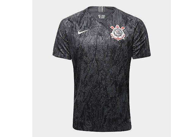 Nova Camisa Corinthians II Preta 2018 2019 Nike Original Lançamento ... 9f8b20be14253