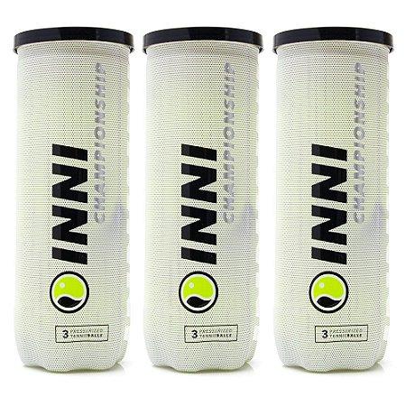 Bola de Tênis Inni Championship Pack com 03 Tubos