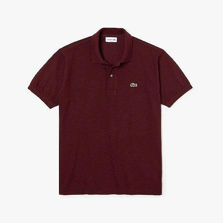 Camisa Polo Lacoste Classic Fit Bordo
