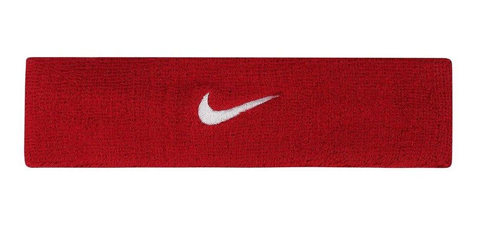 Testeira Nike Headband Bandeau Swoosh - Vermelho/Branco