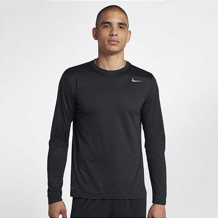 Camiseta Nike Manga Longa Dri Fit Legend - Preta