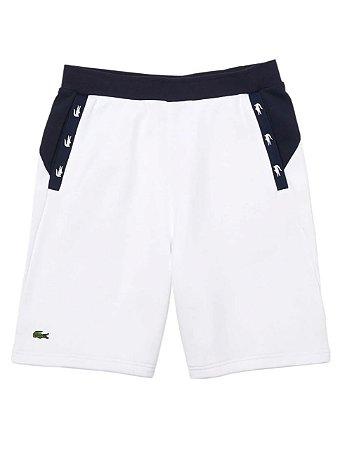 Shorts Moletom Lacoste - Branco (Detalhe Croco)