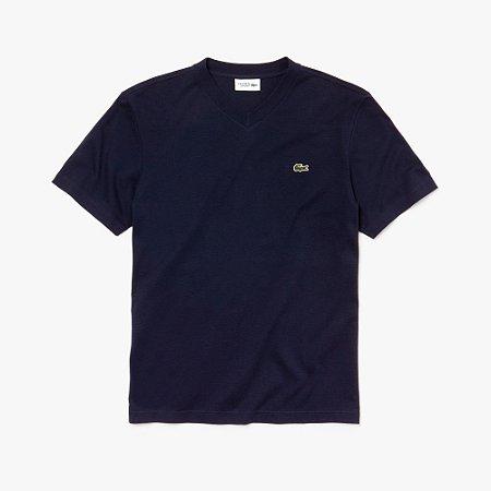 Camiseta Lacoste Sport Gola V - Azul Marinho
