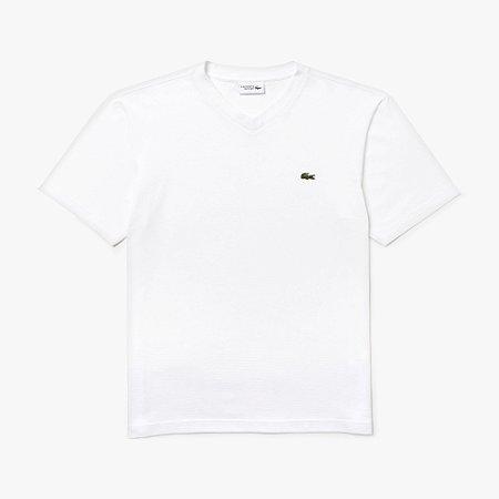 Camiseta Lacoste Sport Gola V - Branca