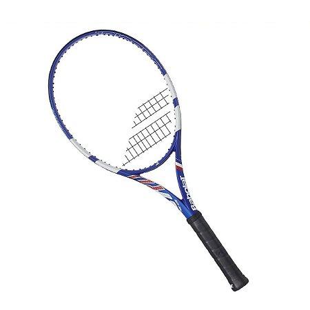 Raquete de Tenis Babolat Pure Aero France NC Edição Especial Azul e Branco L3