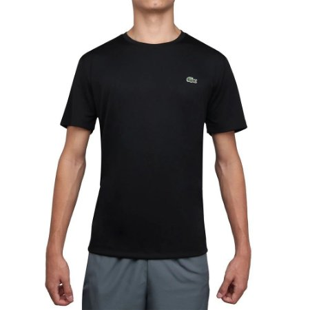 Camiseta Lacoste Sport Gola Redonda - Preto
