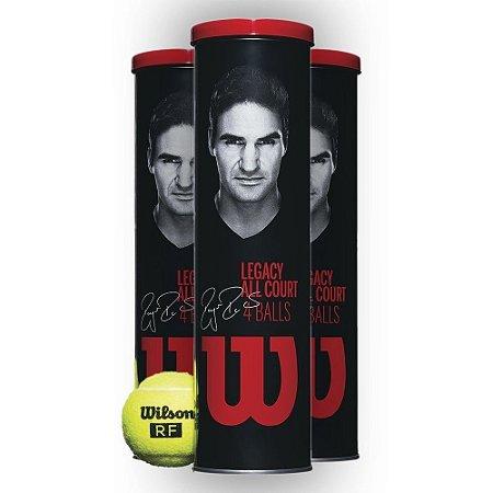 Bola De Tênis Wilson Federer Legacy All Court - 1 Tubo Com 04