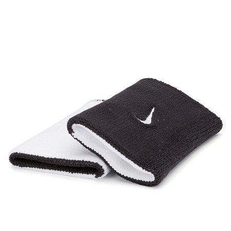 Munhequeira Comprida Nike Dri-Fit Premier Dupla Face - Preto e Branco