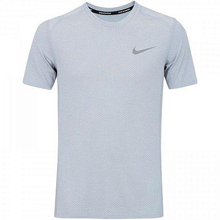 Camiseta Dry Miler Top SS Nike Cinza Claro
