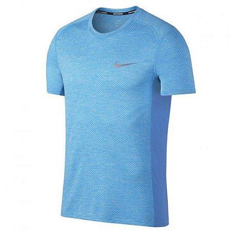 Camiseta Breathe Miler SS Cool Nike Azul Claro