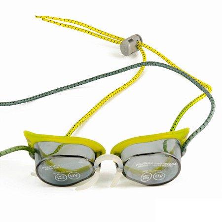 Óculos De Natação Speedo Speed Amarelo/fumê - Estilo Sueco