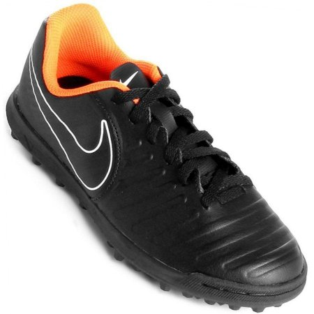 Chuteira Nike Legendx 7 Club Tf Preto e Laranja