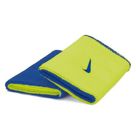 Munhequeira Comprida Nike Dri-Fit Dupla Face - Azul e Verde Limão