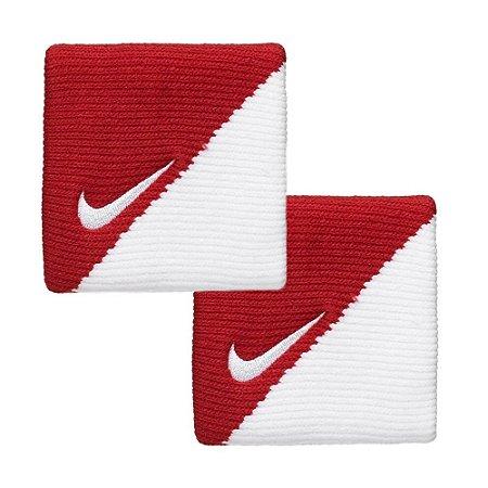 Munhequeira Curta Nike Dri-Fit V/B - Vermelho e Branco
