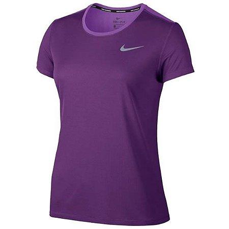 Camiseta Breathe Rapid Top SS Nike Feminina Roxa