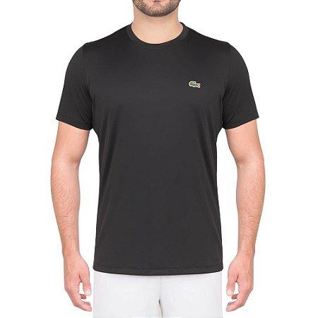 Camiseta Lacoste Masculina Técnica 100% POLIÉSTER - Preta