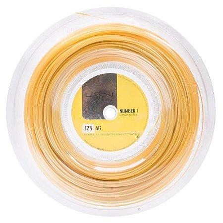 Corda Luxilon 4G 16L 1.25mm Amarela - Rolo com 200 Metros