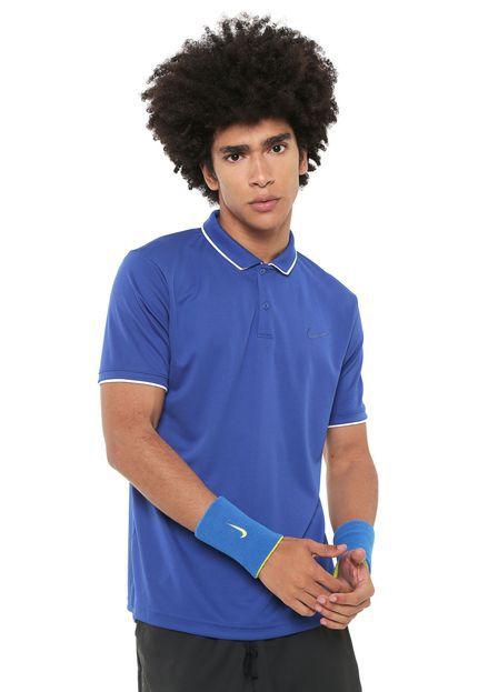 Polo Nike Court Dry Team Azul