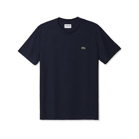 Camiseta Lacoste Masculina Técnica 100% POLIÉSTER - Azul Marinho