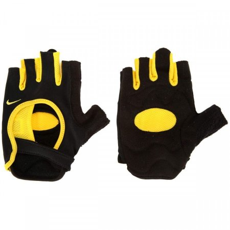 Luva de Ciclismo Nike Fit Cycling Gloves - Preto e Amarelo