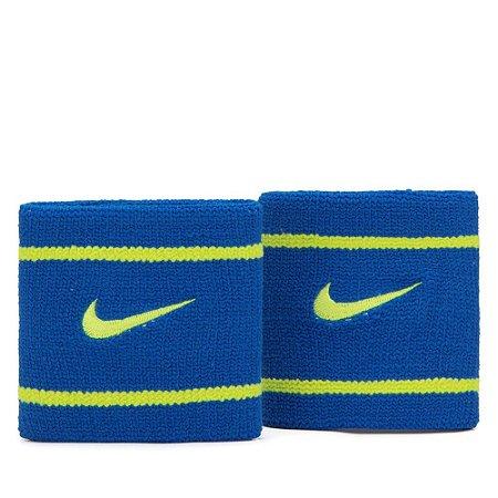 Munhequeira Curta Nike Dri-Fit - Azul e Amarelo