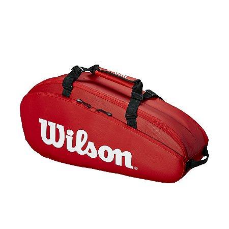 Raqueteira Wilson Tour Comp X6 Vermelha