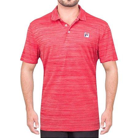 Camisa Polo Fila Action II Mescla Vermelho