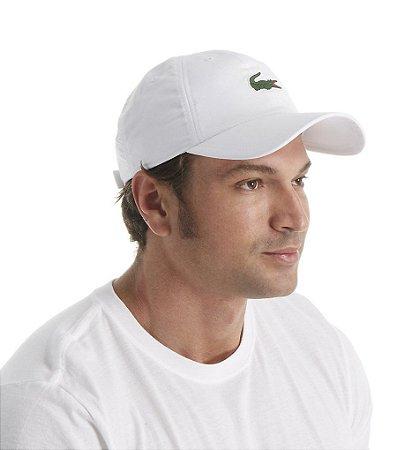 Bone Lacoste Sport Tennis Com Logo Do Crocodilo Branco Hit Tennis Sports Morumbi