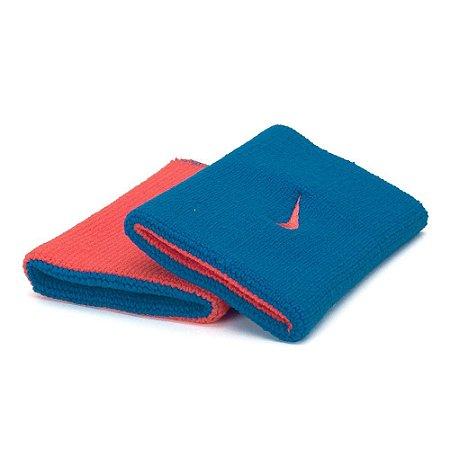 Munhequeira Comprida Nike Dri-Fit Dupla Face - Azul e Laranja