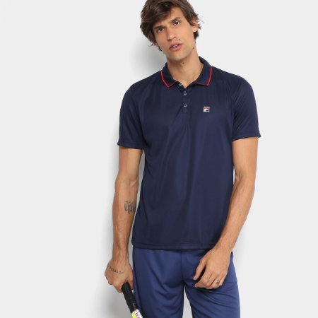 Polo Fila Tenis Aztec Masculino Azul Marinho