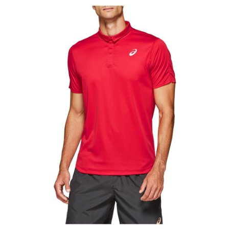 Polo Asics Club Vermelho - Masculina