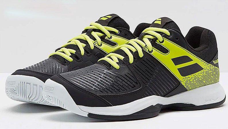 Tenis Babolat Pulsion Masculino - Preto e Amarelo