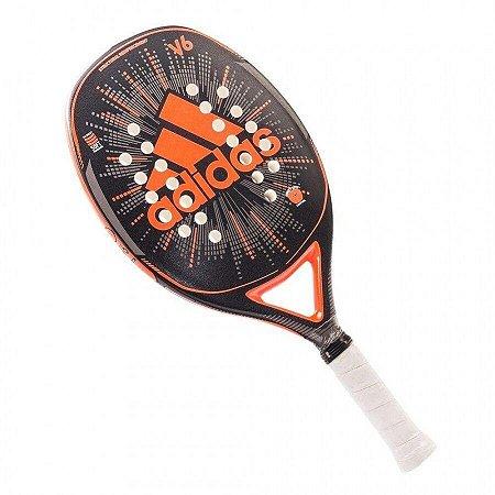 Raquete de Beach Tennis Adidas V6 - Preto e Laranja
