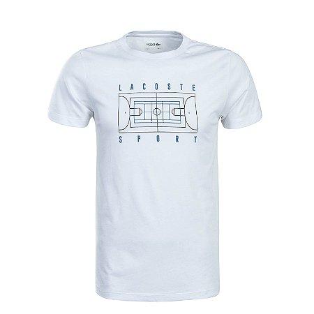 Camiseta Lacoste Sport Em Jersei Tennis Branco