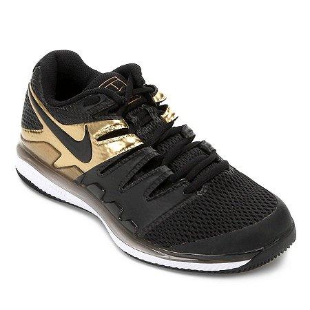 Tênis Nike Air Zoom Vapor 10 HC - Preto e Dourado