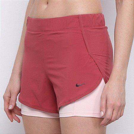 Shorts Nike Flex Feminino Vinho