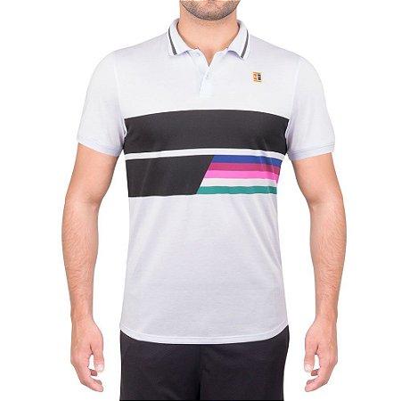 Camisa Polo Nike Court Rafa Advanced Classic Cinza