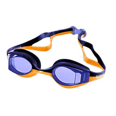 Óculos De Natação Speedo Focus - Azul/Laranja